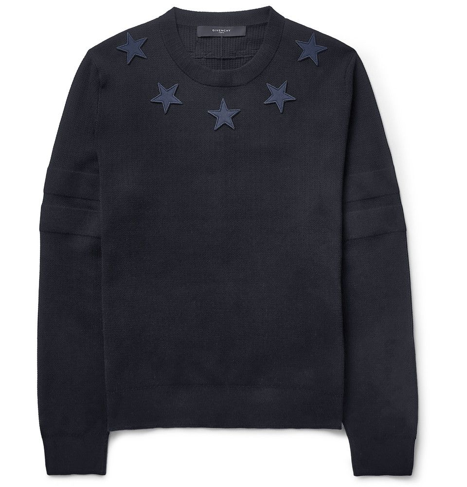 bfe54720 Givenchy - Embroidered-Star Sweater | MR PORTER | Homme Depot ...