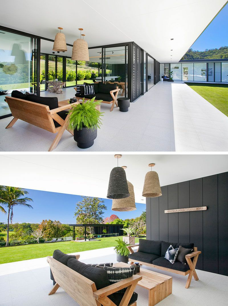 See Inside The Home This Architect Designed For Her Own Family Architect Design Modern House Design House Styles Family home with outdoor living room