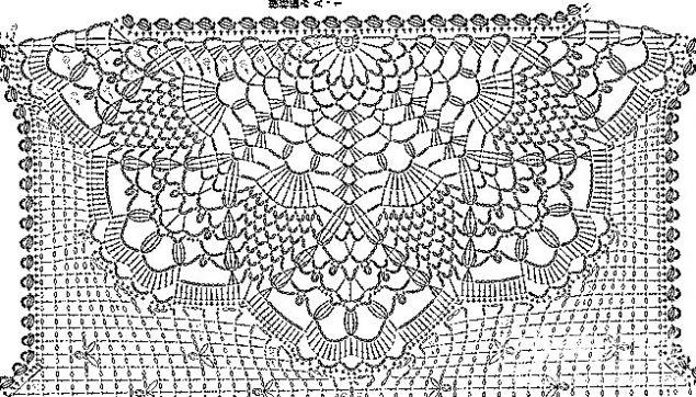 Кружево крючком и ткань (работа из интернета) / Вязание ...