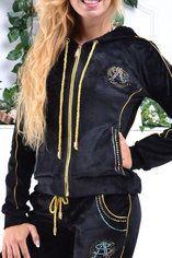 400cb8a7 Стильный гламурный велюровый спортивный костюм женский Турция однотоный на  змейке XS S M L XL 8840