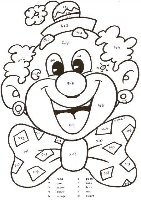 Kleurplaten Circus Clown.Pin Van Lisa Potkul Op Kindergarten Kleurplaten Carnaval