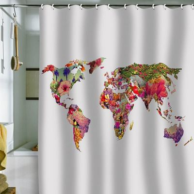 Deny Designs Bianca Green Its Your World Shower Curtain Green Shower Curtains Unique Shower Curtain Deny Designs