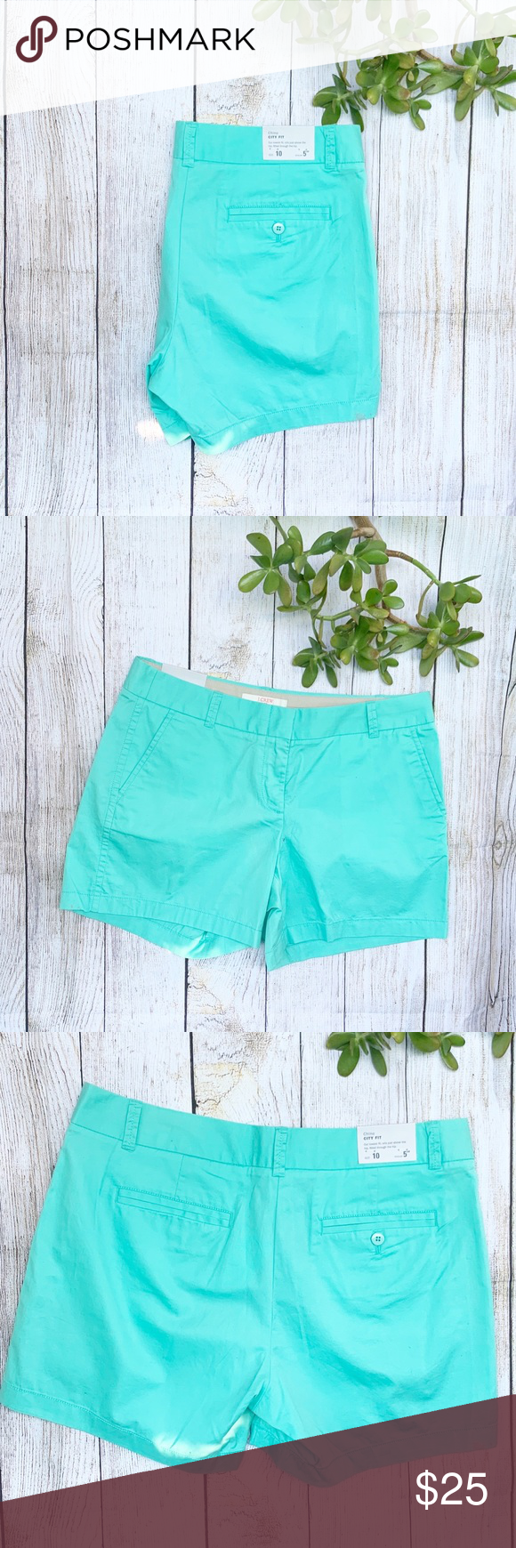 Flash Sale J Crew Chino City Fit Teal Shorts Clothes Design Turquoise Shorts Teal Shorts