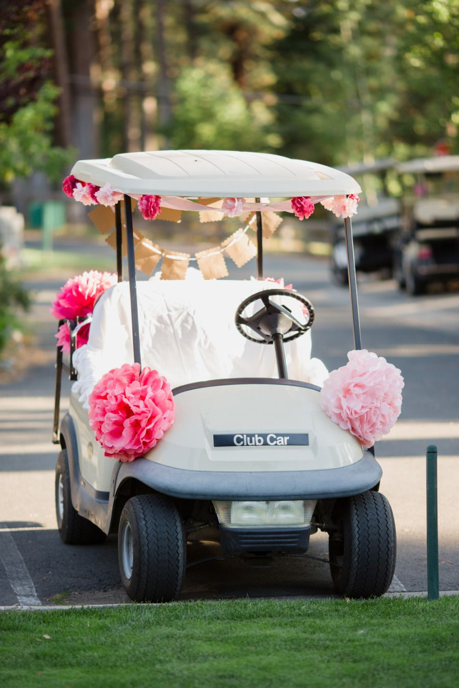 Clic Elegance at The Glenbrook Club | Happily Ever After ... on ford think electric golf cart, burning man golf cart, pink golf cart,