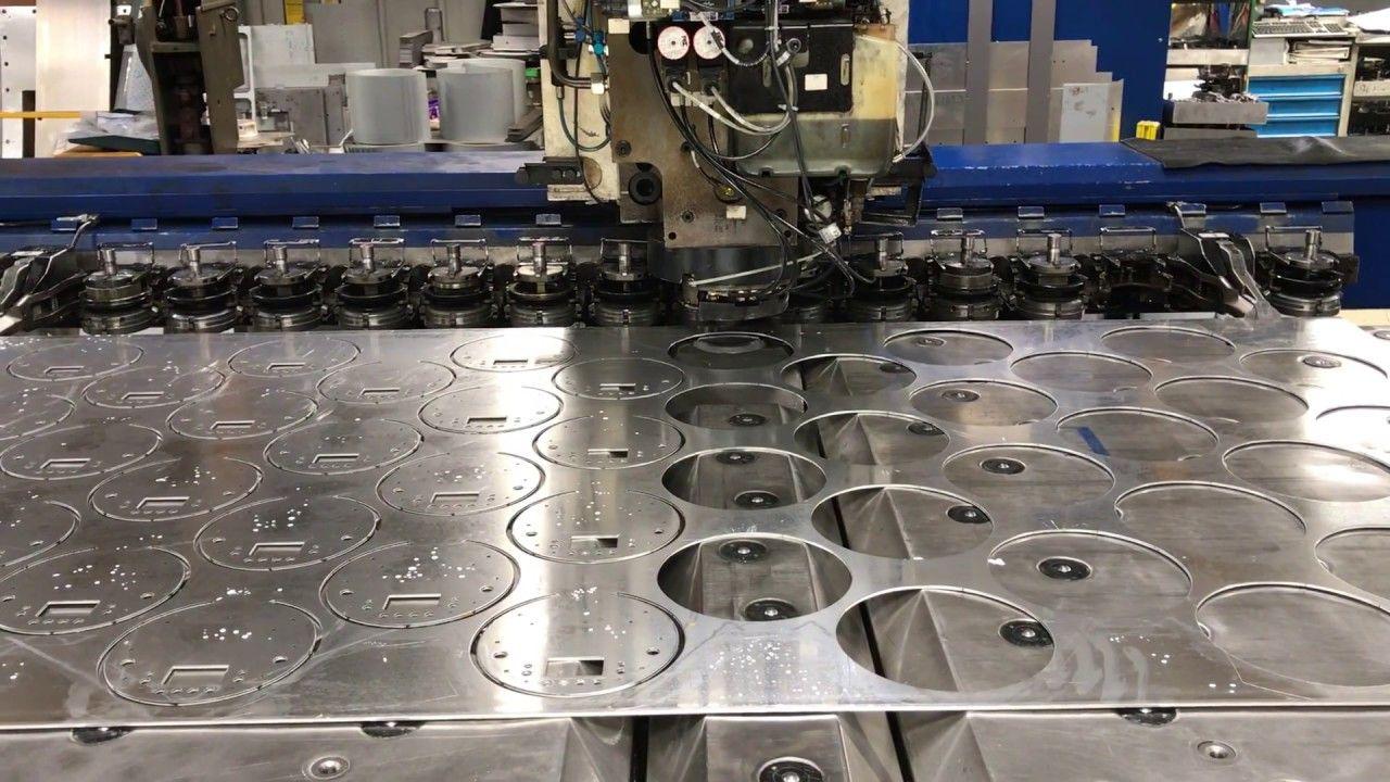 Cnc Punching Aluminium Discs Sheet Metal Work Types Of Sheet Metal Cnc