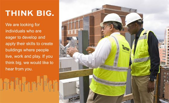 Careers Turner Construction Company Construction Company Career Best Places To Work