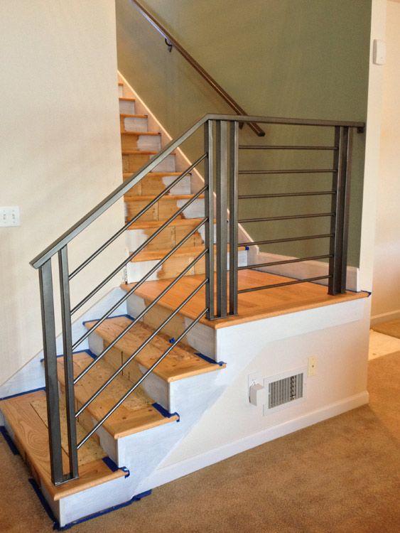 Custom Modern Railing Handrail Smw Modern Stair Railing   Custom Iron Stair Railing   Residential   French   Metal   Banister   Iron Work