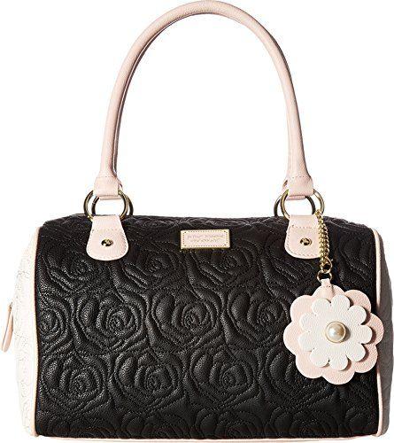 Betsey Johnson Women's Satchel Black Handbag | Black handbags ...