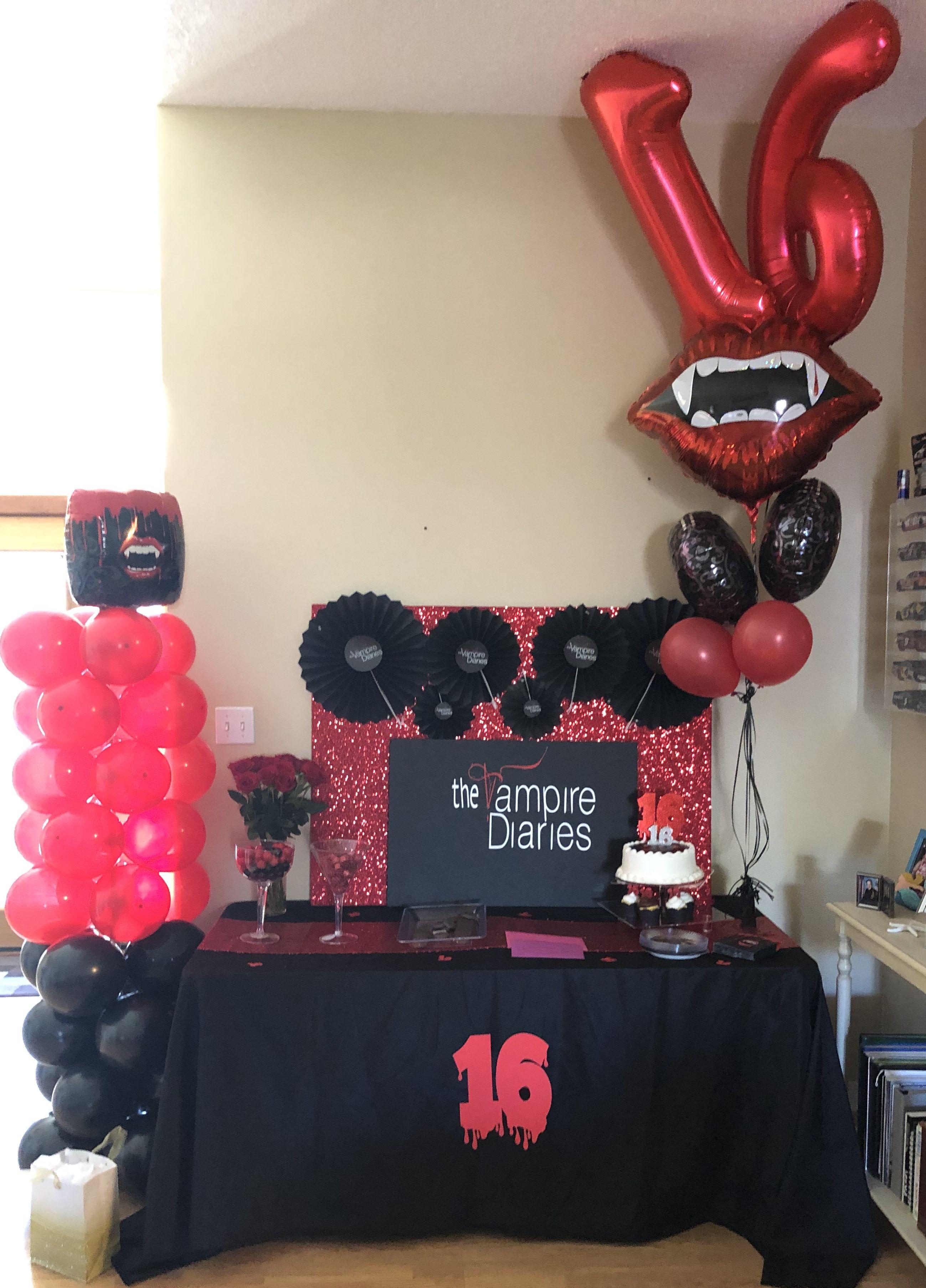 Pin By Sweet Tea 37 On Vampire Diaries Birthday Party Vampire Theme Party 13th Birthday Party Ideas For Girls 13th Birthday Parties