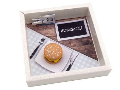 Geldgeschenk Verpackung Hamburger Essen Gutschein #adventskalendermann