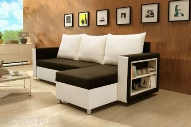 Rio Corner Sofa Bed Chaise Sofabed With Storage In Black Cream Or Brown Cream The Rio Is A Moder Corner Sofa With Storage Sofa Corner Sofa Bed