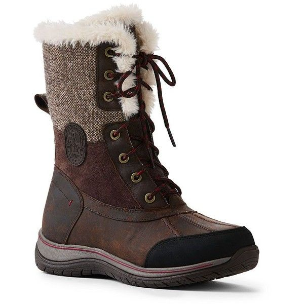 Lands' End Women's Avalanche Snow Boots (€125) ❤ liked on