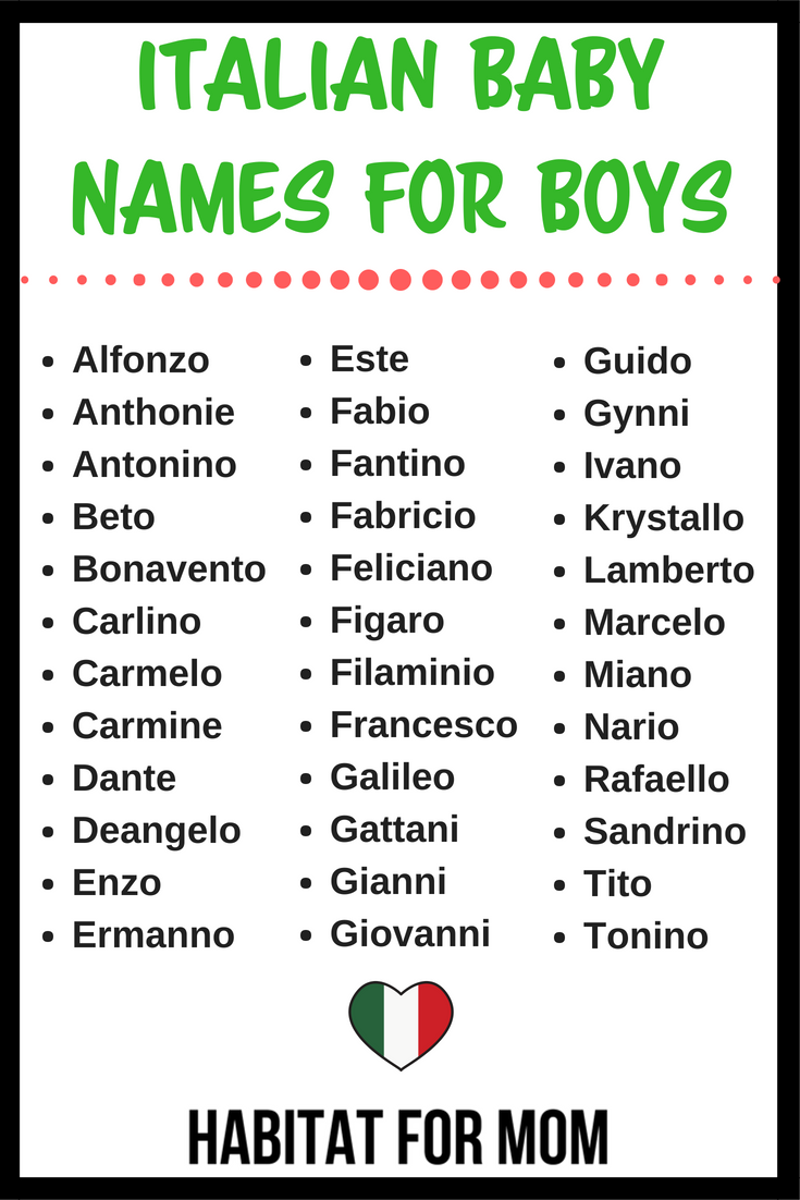 Italian Baby Names For Boys Baby Names For Boys Boy Names Baby Boy Names Italian Boy