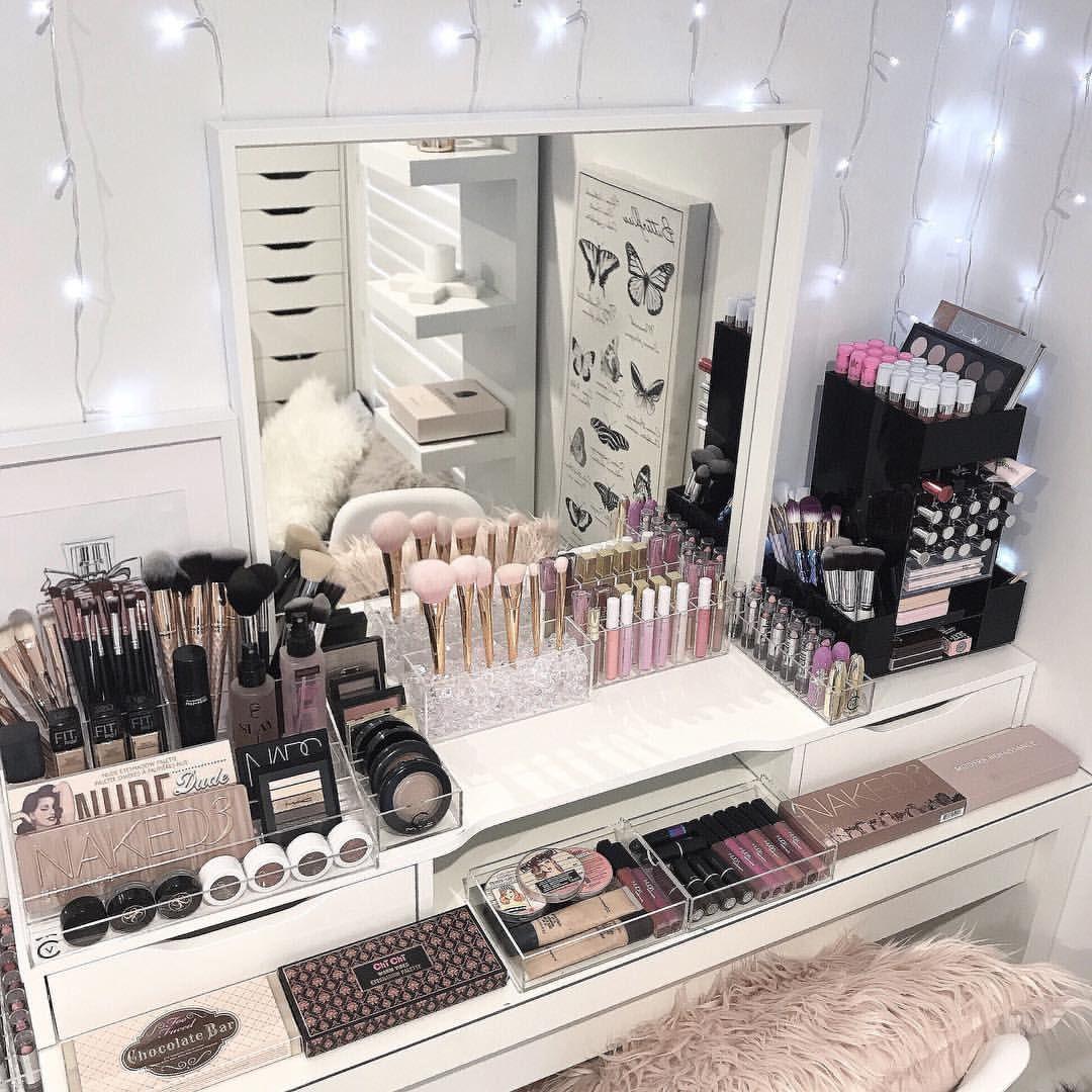 Makeup Vanity ideas vanity (Vanity mirror) Organização