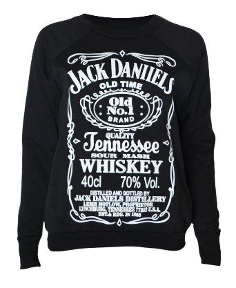 2d3ccc4587ad70 Womens Jack Daniels Sweater Top  Clothing