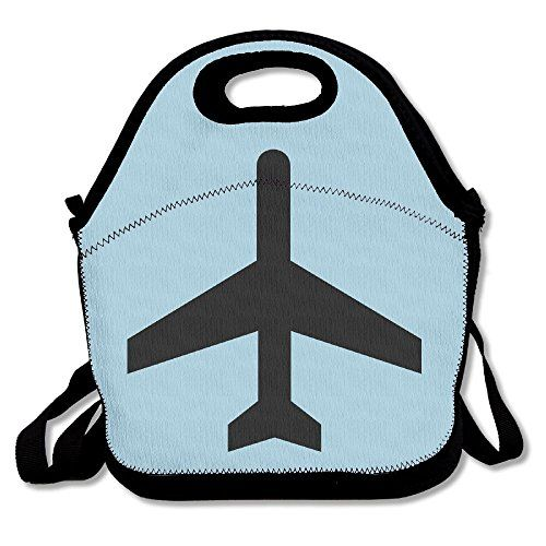 21c9eb9d9f13 Reusable Lunch Bag Black Airplane Picnic Lunch Bags Boxes... https ...
