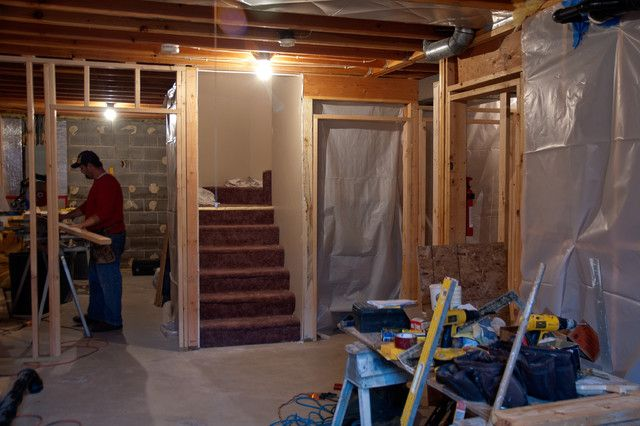 Lovely Unfinished Basement Storage