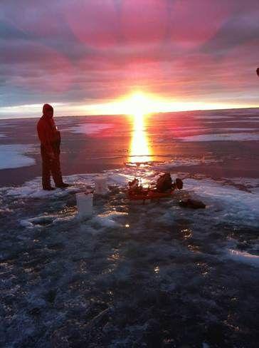Ice fishing...