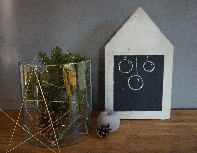 Beton Haus Xxl Mit Tafellack Tafellack Tafel Und Kerzen