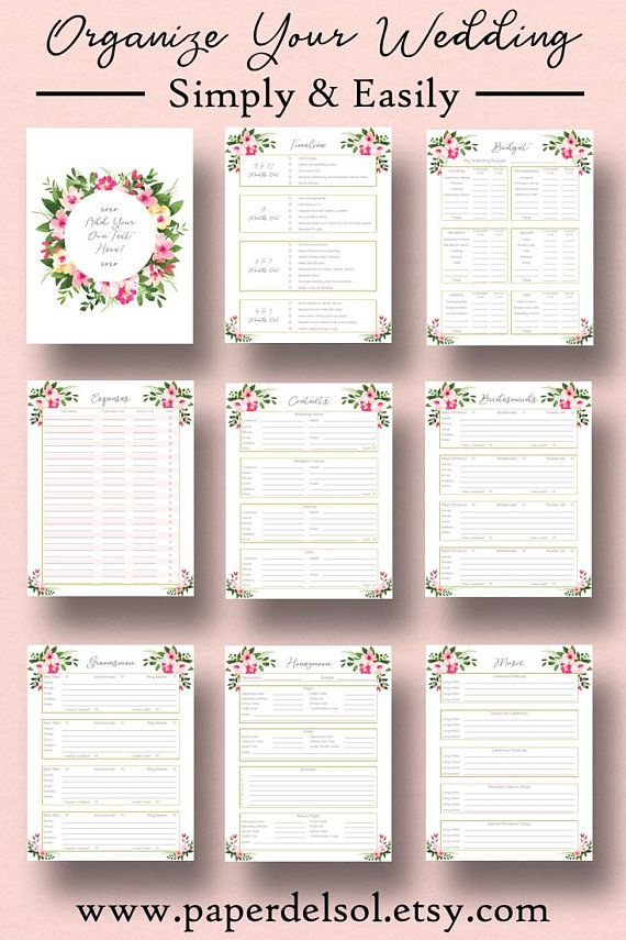 Wedding planner printable wedding planner pages do it yourself wedding planner printable wedding planner pages do it yourself binder printables checklist planning book a5 pages instant download solutioingenieria Choice Image