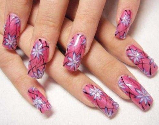 Cool-Pink-Nail-Art-Design