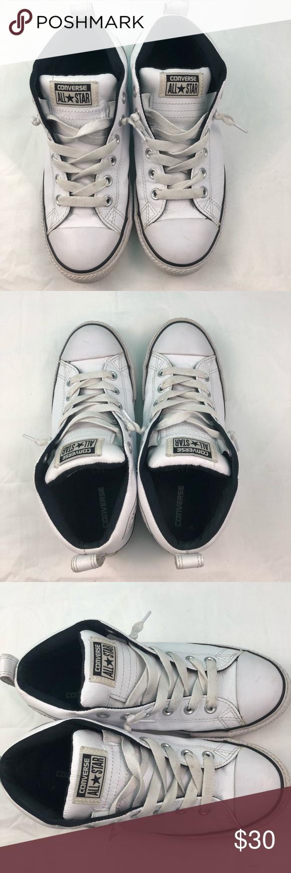 Converse Junior Size 5 White High Tops