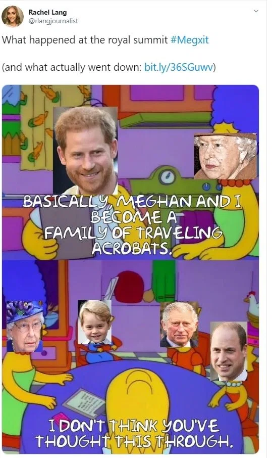Megxit Memes Light Up Twitter As Royal Crisis Sends Internet Wild Prince Harry Father Prince Harry Real Father Harry And Meghan Wedding
