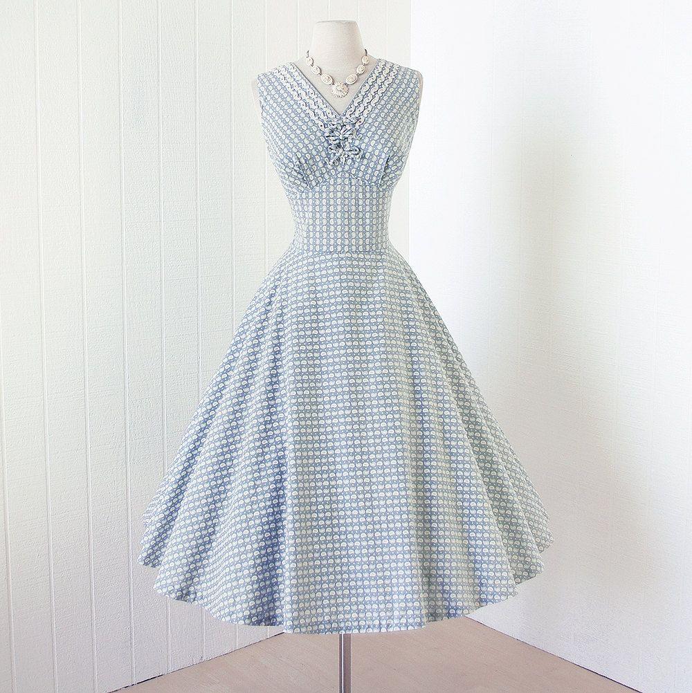 vintage 1950\'s dress ...fab MARC-EL of MIAMI niagara by traven7 ...