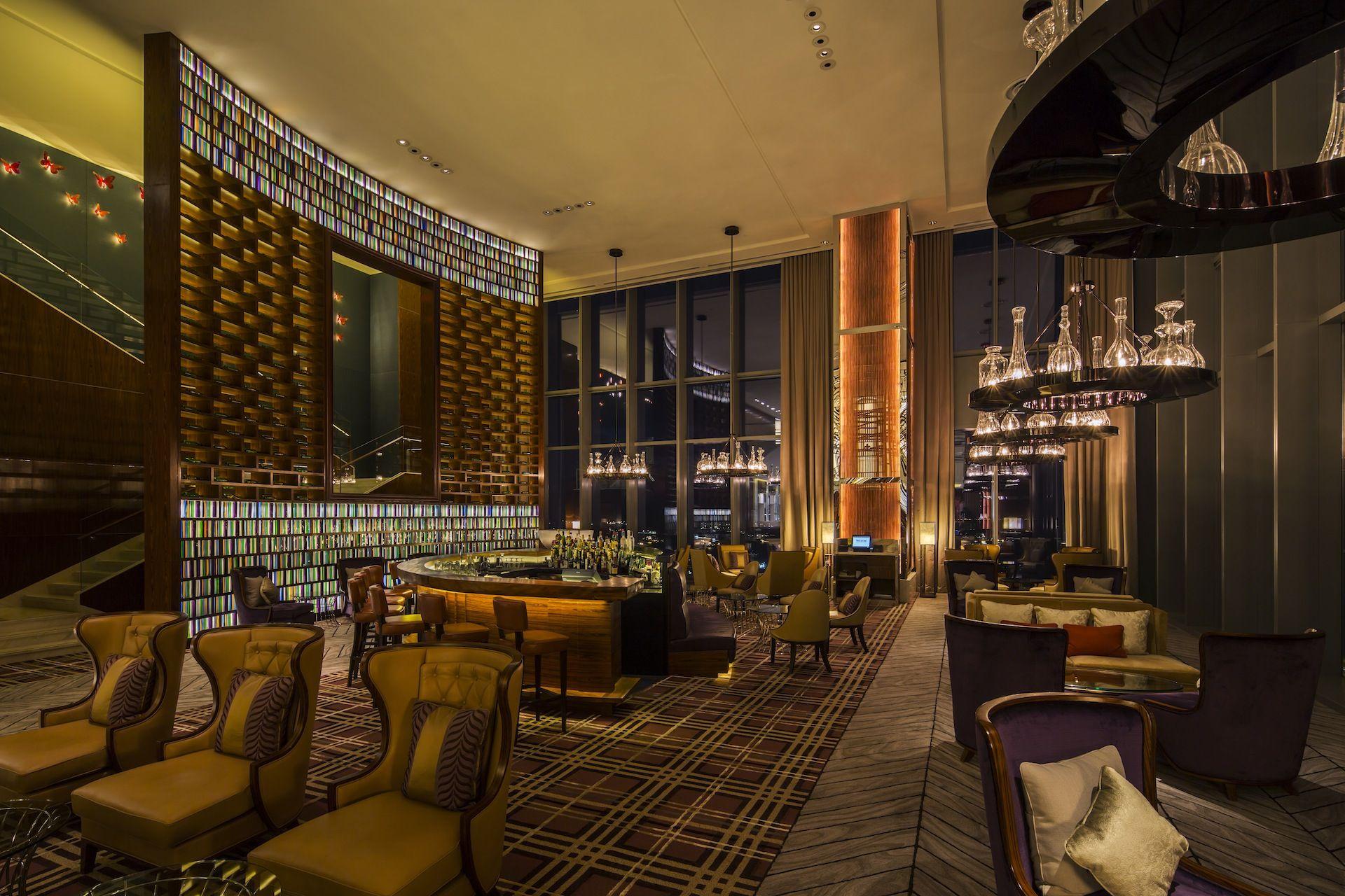 Westin Hotel Lobby-lounge Atmosphere Singapore