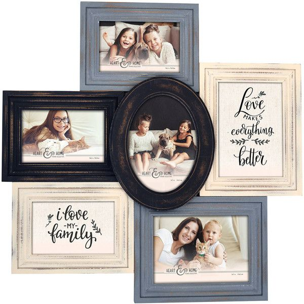 New View 6 Opening Multi Shape Collage Frame 39 Aud Liked On