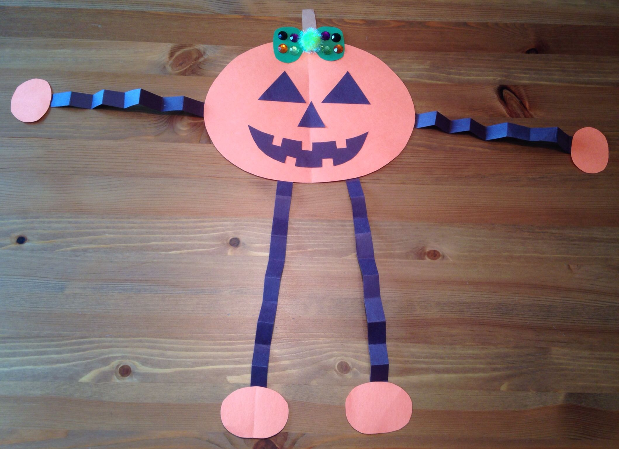 Jack O Lantern Girl Craft