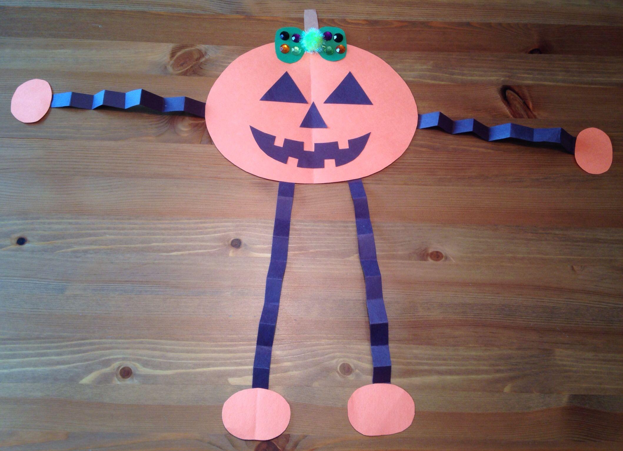 Jack O Lantern Girl Craft