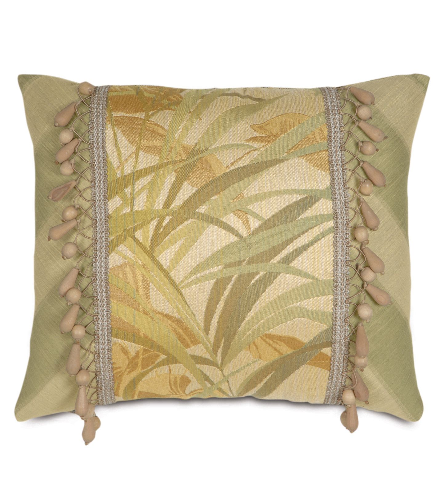 Antigua Polyester Insert Decorative Pillow with Beaded Trim ...