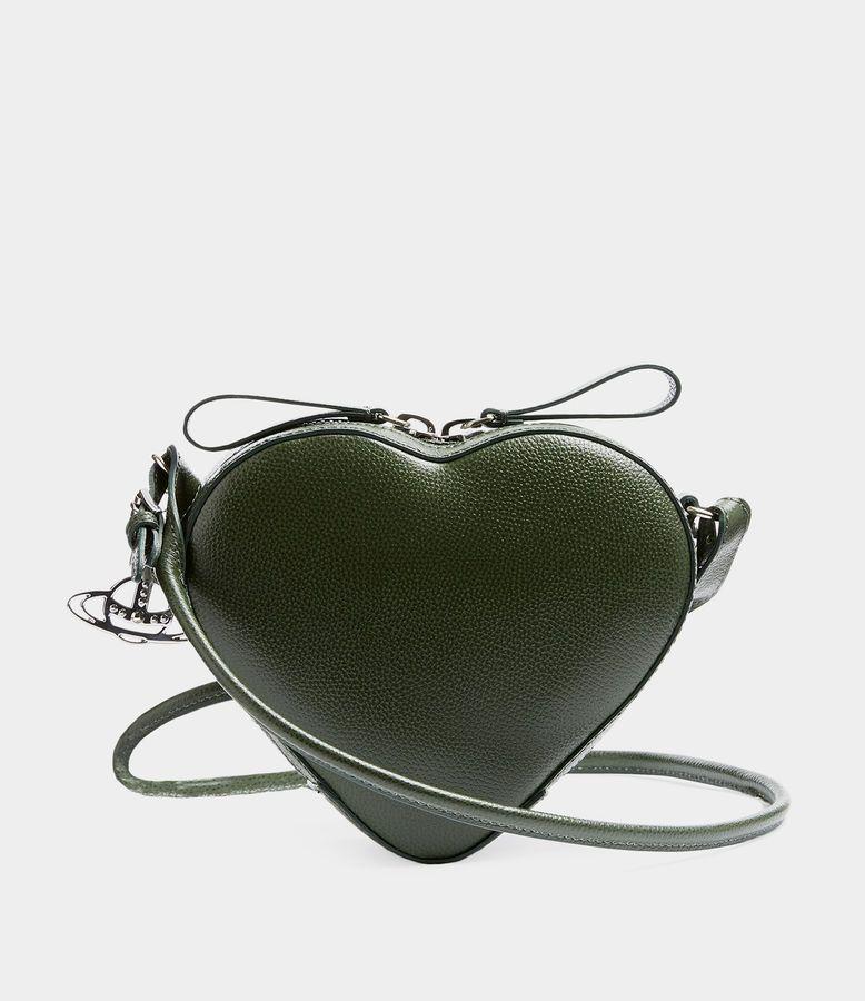 0d40fa0a1f Vivienne Westwood Women's Designer Crossbody Bags   Shop Vivienne Westwood  - Johanna Heart Crossbody Bag Green