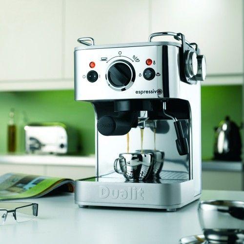dualit-espressivo-coffee-maker-chrome-küchen zubehör