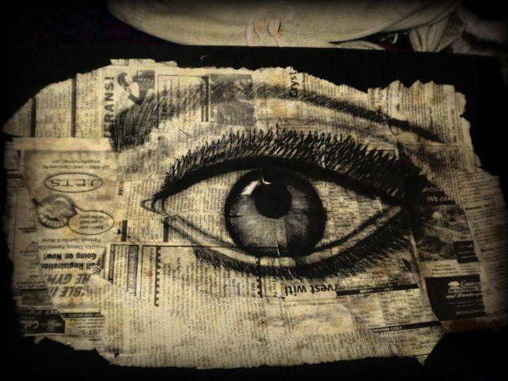 Tea Stained Eye portrait