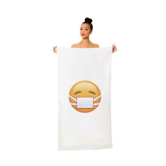 7397a11c9 Medical Mask Emoji Towel Emoticon Smile Bath Beach Pool Summer Funny  Christmas For Doctors Nurses Pa