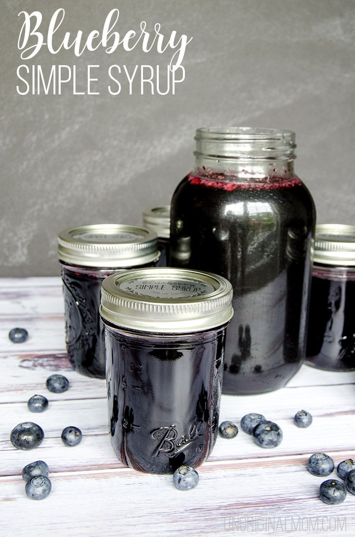 Blueberry simple syrup recipe and drink ideas