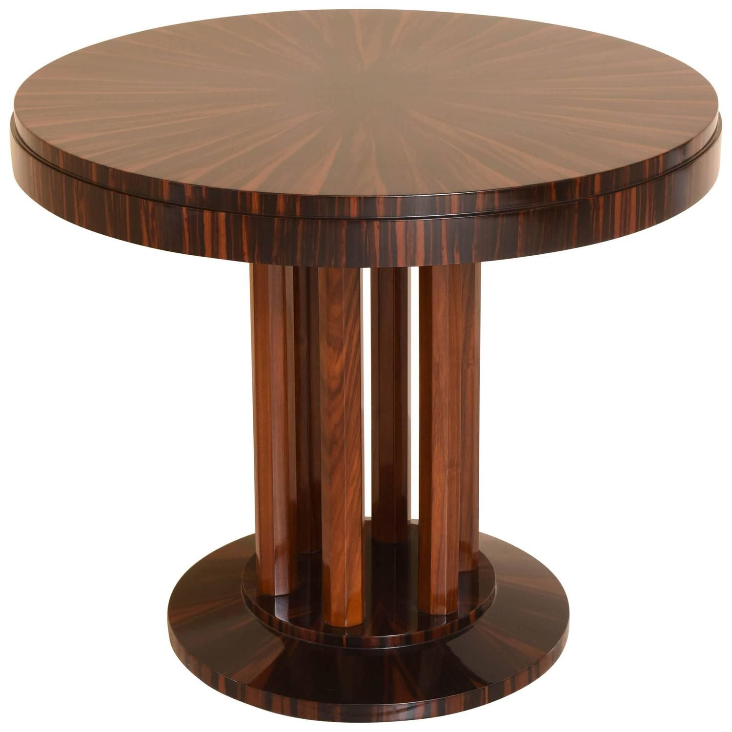 Art Deco Center Table with Macassar Wood, Maison Rinck, France, 1920s | From a…