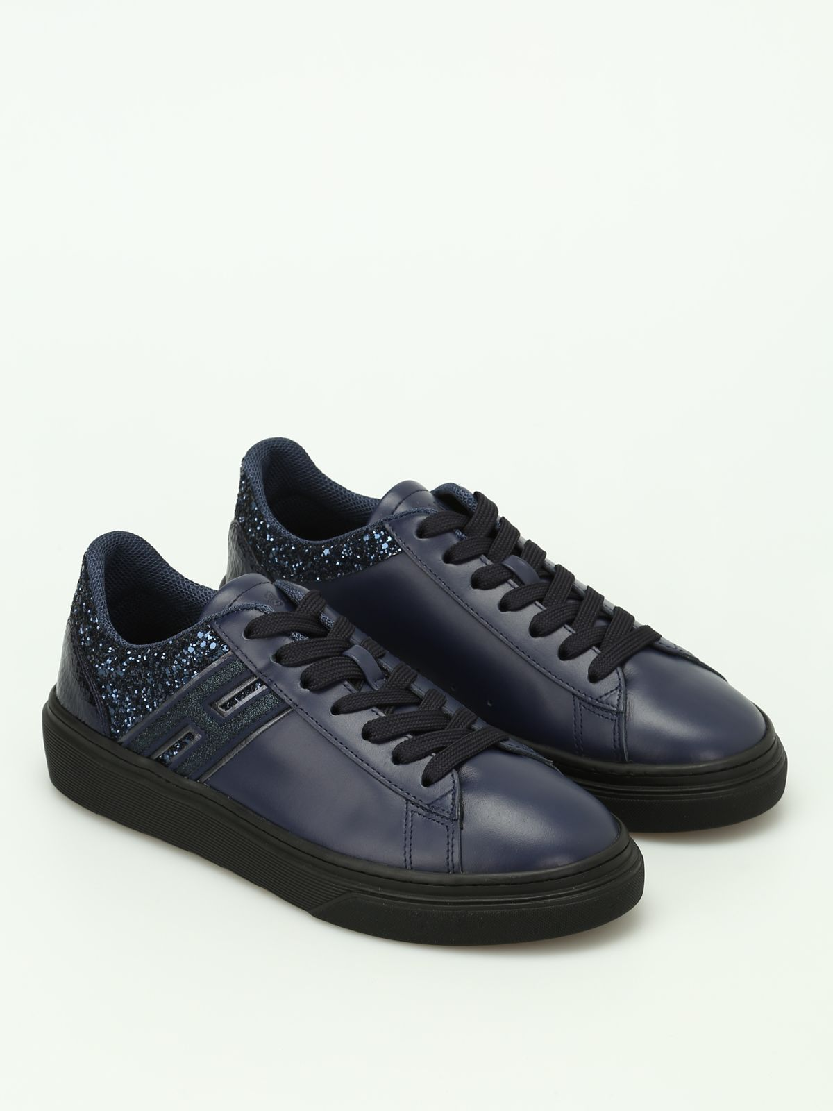 Sneakers H340 leather black Hogan IQ2qmXE7