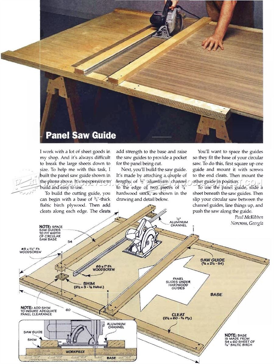 DIY Circular Saw Guide Circular Saw Tips, Jigs and