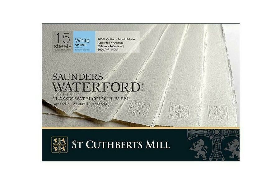 Saunders Waterford Watercolour Paper Pads 300gsm 210 X 148mm A5