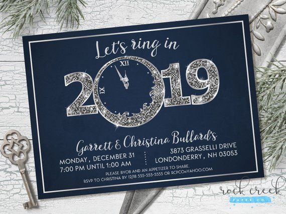 New Year S Eve Party Invitation Countdown To New Year Etsy In 2020 New Years Eve Invitations Party Invitations Party Invitations Printable