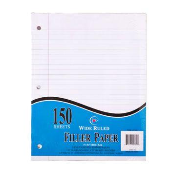 Jot Loose-Leaf Wide Ruled Filler Paper, 150-Sheet Packs