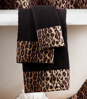 Leopard 3 Pc Bathroom Towel Set From Collections Etc Animal Print Bathroom Leopard Print Accessories Animal Print Decor