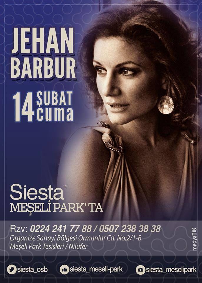 Sevgililer Gününde Jehan Barbur Siesta Meşelipark sahnesindeydi...