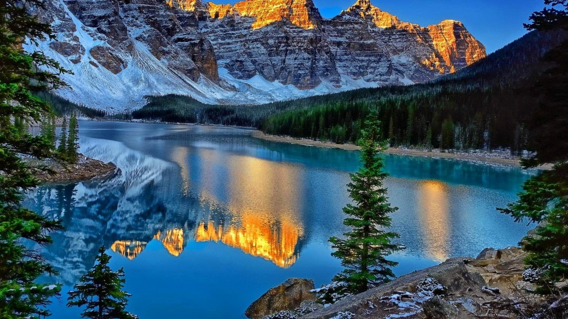 Moraine Lake Canada Wallpaper Hd Download For Desktop