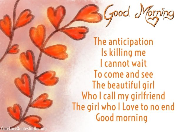 good morning love poems for girlfriend image