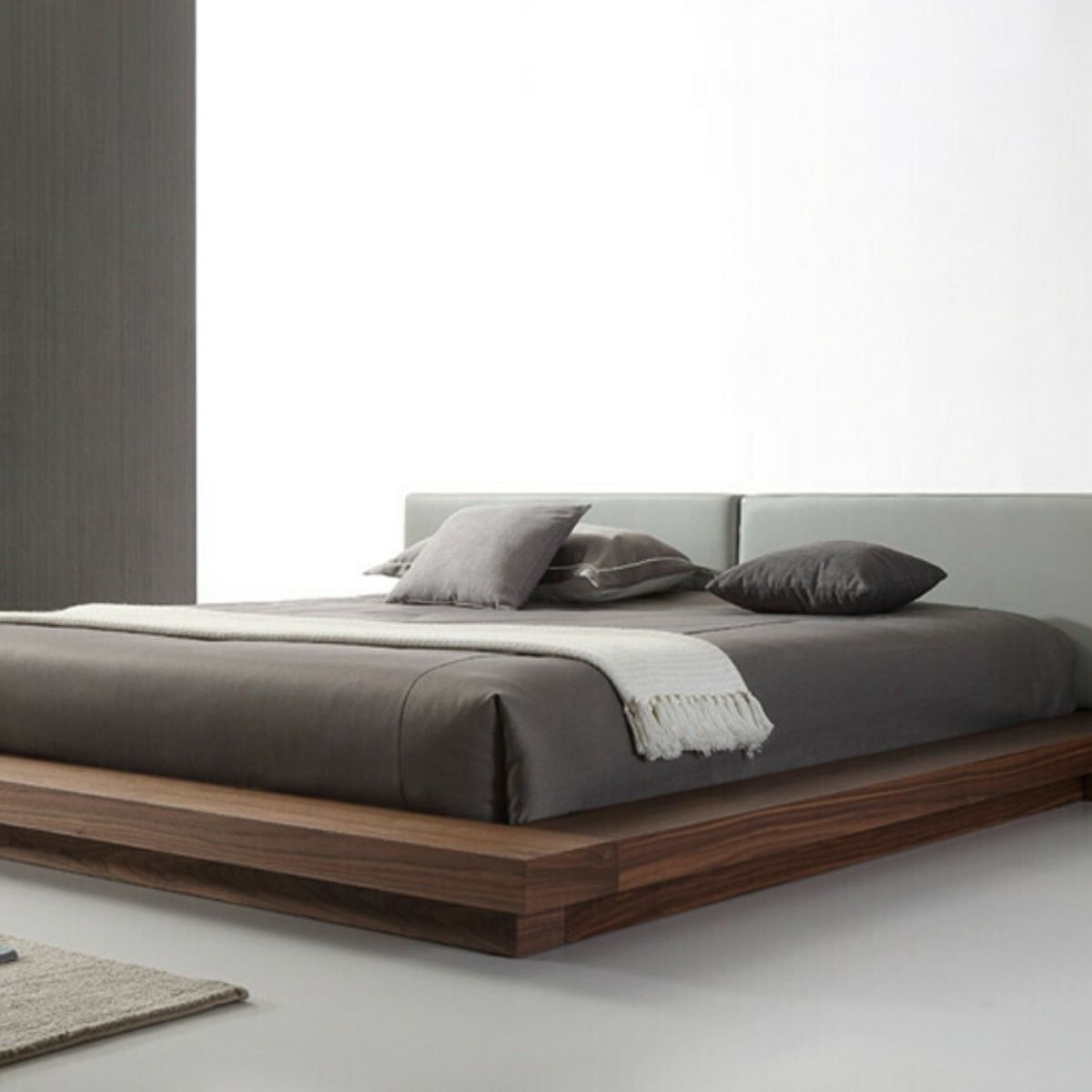 Modrest Opal Modern Walnut Grey Platform Bed Vgvcbd855 Walgr Q