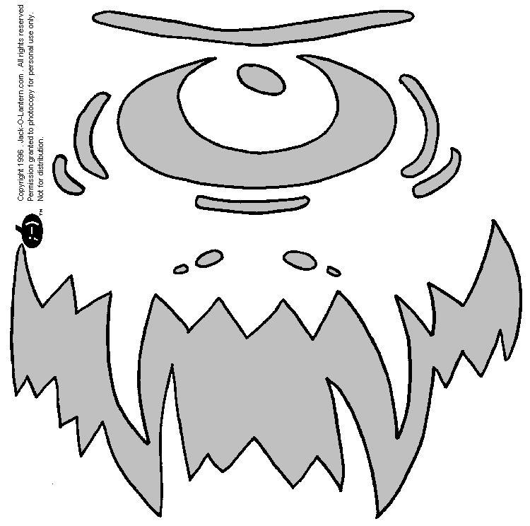 Cyclops pumpkin pattern HALLOWEEN!!!! Pinterest - patterns for halloween decorations